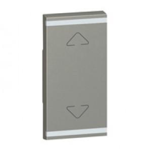 Square key cover Arteor BUS/SCS - Up/Down symbol - 1 module - magnesium