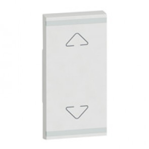 Square key cover Arteor BUS/SCS - Up/Down symbol - 1 module - white
