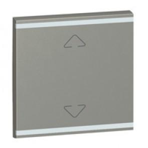 Square key cover Arteor BUS/SCS - Up/Down symbol - 2 modules - magnesium