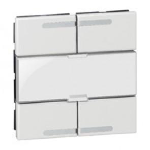 Scenario controller BUS/SCS Arteor - square key cover - white - 2 modules