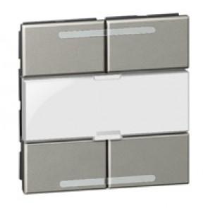 Scenario controller BUS/SCS Arteor - square key cover - magnesium - 2 modules