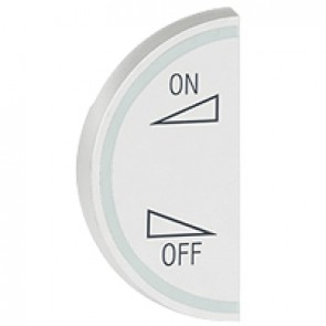 Round key cover Arteor BUS/SCS - regulation symbol - 1 module left-hand - white