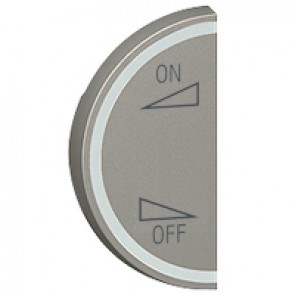 Round key cover Arteor BUS/SCS - regulation symbol - 1 module left-hand - magnesium