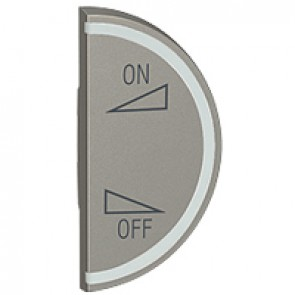 Round key cover Arteor BUS/SCS - regulation symbol - 1 module right-hand - magnesium