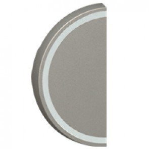 Round key cover Arteor BUS/SCS - without marking - 1 module - magnesium