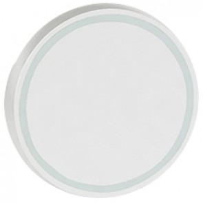Round key cover Arteor BUS/SCS - without marking - 2 modules - white