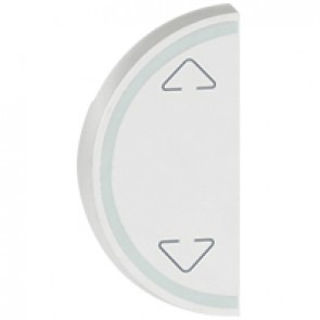 Round key cover Arteor BUS/SCS - Up/Down symbol - 1 module - white