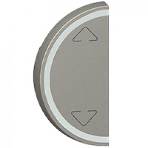 Round key cover Arteor BUS/SCS - Up/Down symbol - 1 module - magnesium