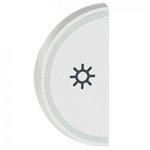 Round key cover Arteor BUS/SCS - light symbol - 1 module - white