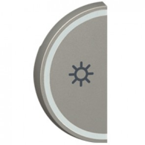 Round key cover Arteor BUS/SCS - light symbol - 1 module - magnesium