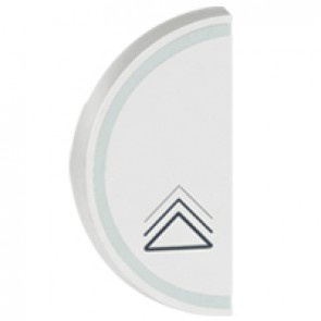 Round key cover Arteor BUS/SCS - dimmer symbol - 1 module left-hand - white