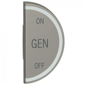 Round key cover Arteor BUS/SCS - GEN/ON/OFF - 1 module right-hand - magnesium