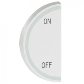 Round key cover Arteor BUS/SCS - ON/OFF - 1 module left-hand - white