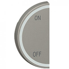 Round key cover Arteor BUS/SCS - ON/OFF - 1 module left-hand - magnesium