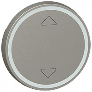 Round key cover Arteor BUS/SCS - Up/Down symbol - 2 modules - magnesium