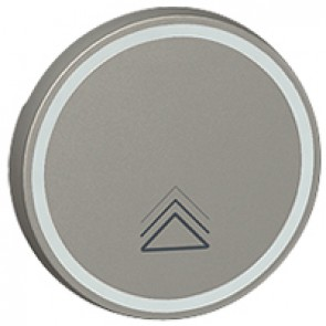 Round key cover Arteor BUS/SCS - dimmer symbol - 2 modules - magnesium