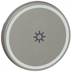 Round key cover Arteor BUS/SCS - light symbol - 2 modules - magnesium