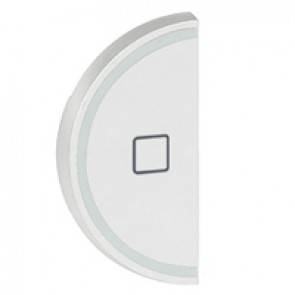 Round key cover Arteor BUS/SCS - shutter STOP marking - 1 module - white
