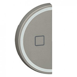 Round key cover Arteor BUS/SCS - shutter STOP marking - 1 module - magnesium
