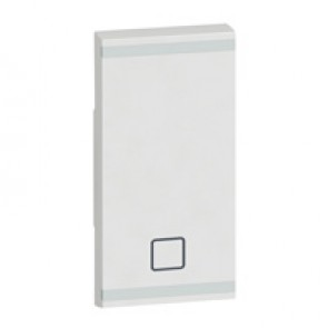 Square key cover Arteor BUS/SCS - shutter STOP marking - 1 module - white