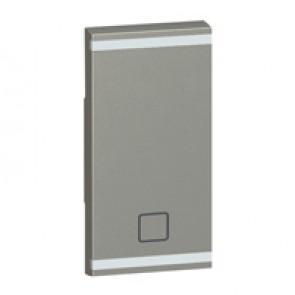 Square key cover Arteor BUS/SCS - shutter STOP marking - 1 module - magnesium
