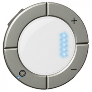 Round key cover Arteor Radio/ZigBee - for dimmer with bargraph - magnesium