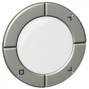 Round key cover Arteor Radio/ZigBee - for roller blind control - white