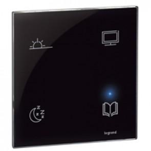 Scenario controller BUS/SCS - 4-scene touch control - 4 scenarios - black
