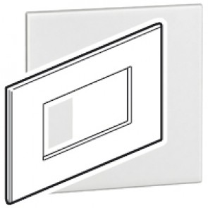 Plate Arteor - Italian/French/German standard - square - 4 modules - white