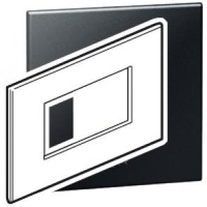 Plate Arteor - Italian/French/German standard - square - 4 modules - graphite