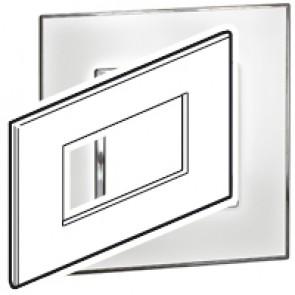Plate Arteor - Italian/French/German standard - square - 4 modules - mirror white