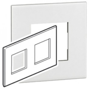 Plate Arteor - British standard - square - 4 modules - white