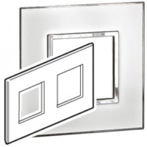 Plate Arteor - British standard - square - 4 modules - mirror white