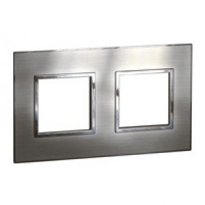 Plate Arteor - British standard - square - 4 modules - stainless style