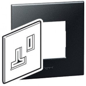 Plate Arteor - BS - square - for switched sockets 1-gang - graphite