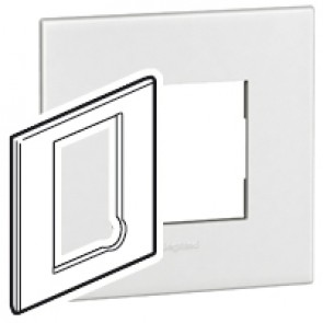 Plate Arteor - BS - square - for fused connection units - white