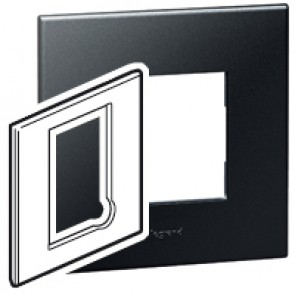 Plate Arteor - BS - square - for fused connection units - graphite