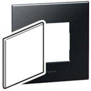 BS blanking cover plate Arteor - for 1-gang box - graphite