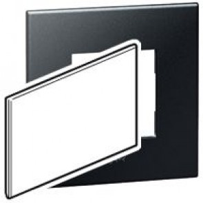 BS blanking cover plate Arteor - for 2-gang box - graphite