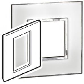 Plate Arteor - British standard - square - 3 modules 1-gang - mirror white