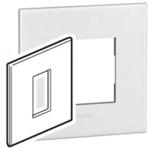 Plate Arteor - British standard - square - 1 module - white