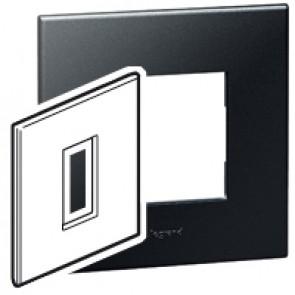 Plate Arteor - British standard - square - 1 module - graphite