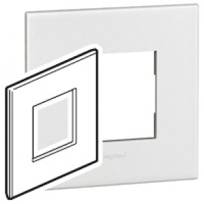 Plate Arteor - British standard - square - 2 modules - white