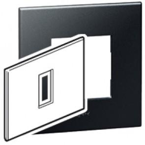 Plate Arteor - Italian / US standard - square - 1 module - graphite