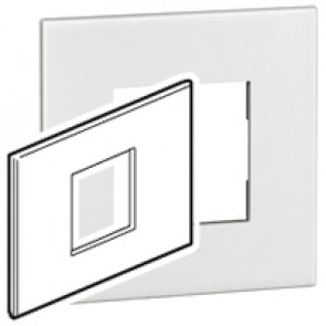 Plate Arteor - Italian / US standard - square - 2 modules - white