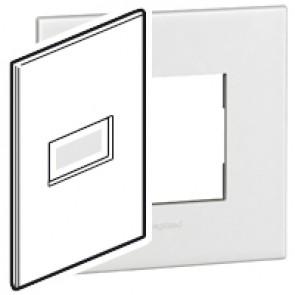 Plate Arteor - American standard - square - 1 module - 2'' x 4'' - white