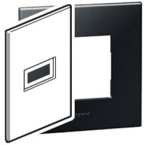 Plate Arteor - American standard - square - 1 module - 2'' x 4'' - graphite