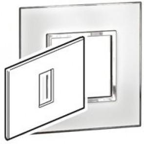 Plate Arteor - Italian / US standard - square - 1 module - mirror white