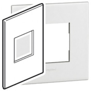 Plate Arteor - American standard - square - 2 modules - 2'' x 4'' - white