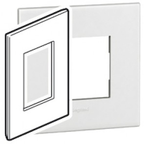 Plate Arteor - American standard - square - 3 modules - 2'' x 4'' - white